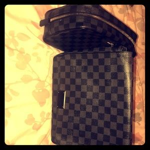 Louis Vuitton satchel and Louis Vuitton Pouch